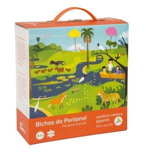 QC 01 Quebra Cabeça Chão Bichos Pantanal Embalagem