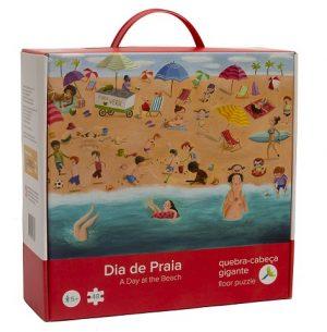 QC 06 Quebra Cabeça Gigante Dia de Praia Embalagem